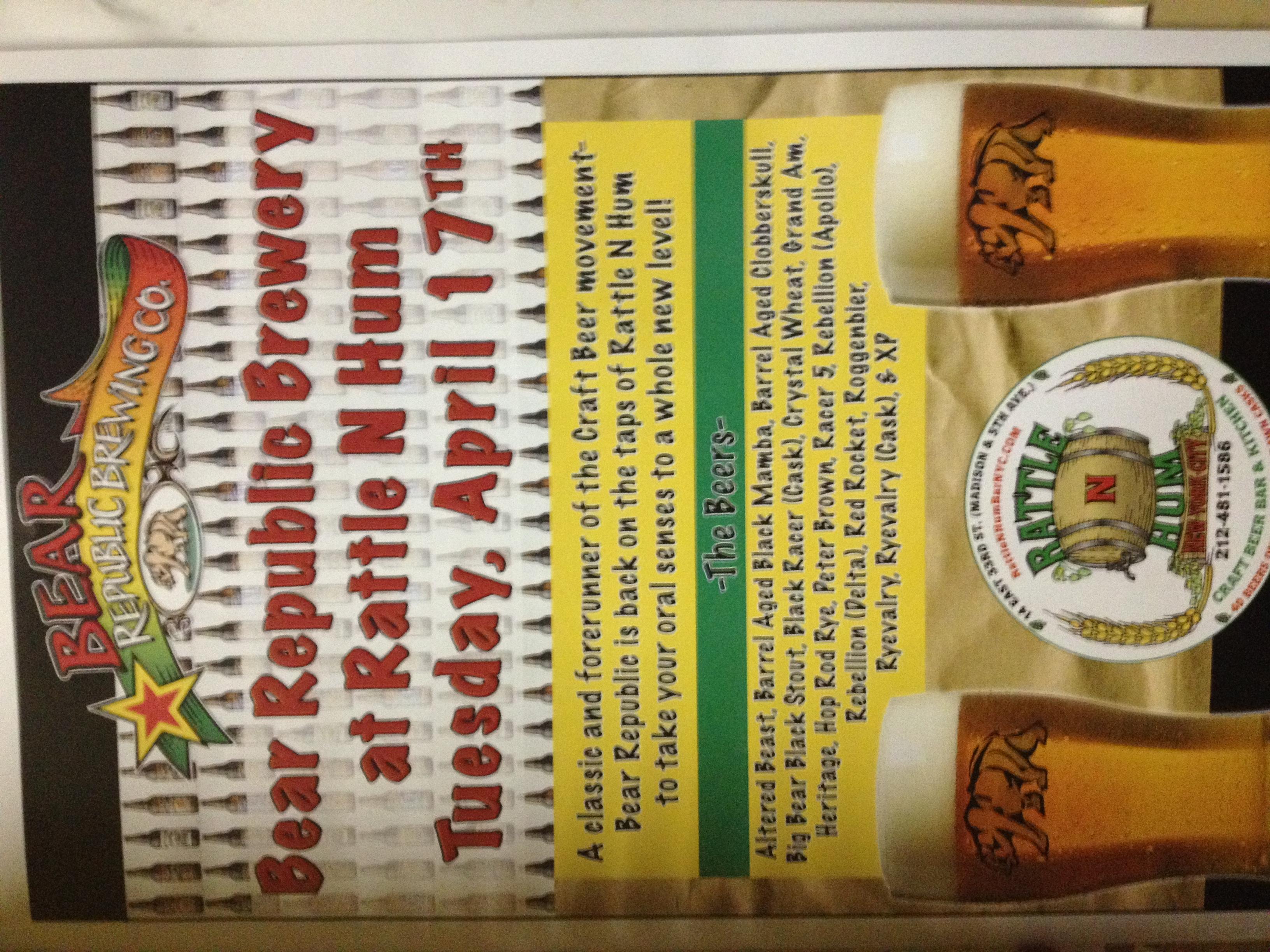 Rattle N Hum Bar Blog | Drink better beer, here!